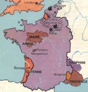 [map of France]